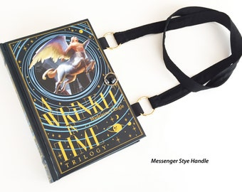 A Wrinkle In Time Book Purse - A Wind In The Door Book Cover Handbag - Banned Book Book Clutch