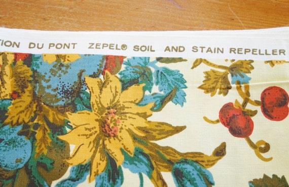 Bloomcraft Fabric, Yellow Home Decor Fabric, ScreenPrint
