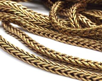 Square Chain, Brass Chain, 2 M. Raw Brass Square Chain (3.8mm) Bs 1010