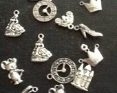 Assorted charm bracelet charms cinderella