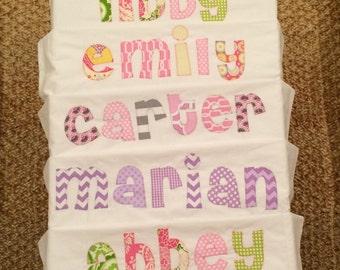Custom name pillowcase