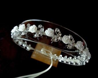 Gold or Silver, Bridal Headband, Rhinestone Headband, Bridal Hair Accessories, Bridal Hairband, Rhinestone Hair Piece, Crystal Headband