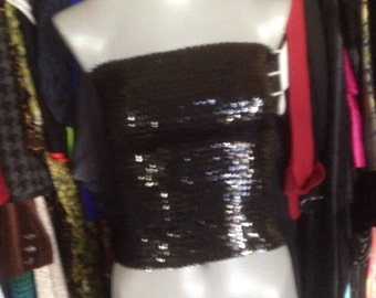 BlACK and SEQUINED TUBE