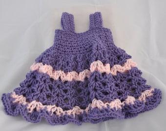 Purple and Pink Newborn Dress