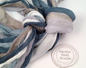 Hand Painted Silk Ribbons Winter Wonderland Marsha Neal Studio Color Palette Silky and or Fairy Ribbons