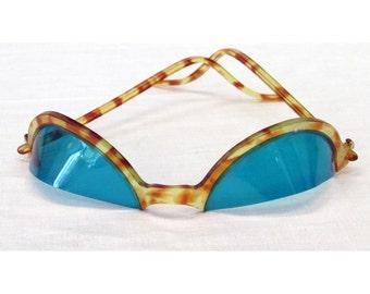 Rare HTF Celluloid 1920s Half Shades Dealer/Gambler/Accountant Novelty Glasses