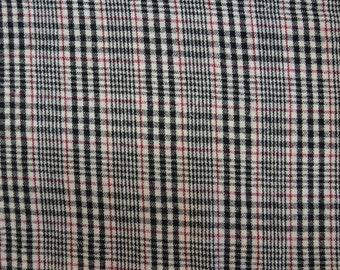 2 1/8 Yard 58 wide 80s tartan plaid wool suiting fabric