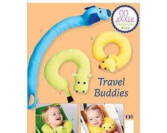 NECK PILLOW PATTERN / Make Baby Neck Supports for Stroller - Car Seat / Hippo - Dog - Cat