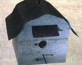 Rustic Birdhouse Made with Reclaimed Barn Wood and Tin