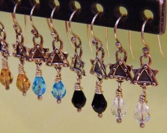 Studded Star Earrings