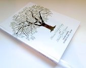 Oak Tree Guest Book, Hardcover, 100 Pages, Rustic Wedding Guest Book, Wood Tree, Fall Wedding, Lavender Wedding Book, Unique Guestbook Ideas