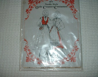 Nortic Style Olde Country Costumes  Pattern 871 Size 8 to 16