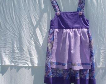 Size 6 Purple Paisley Dress