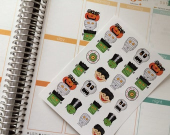 Planner Stickers Halloween Stickers Fits Erin Condren Planner Plum Paper Stickers