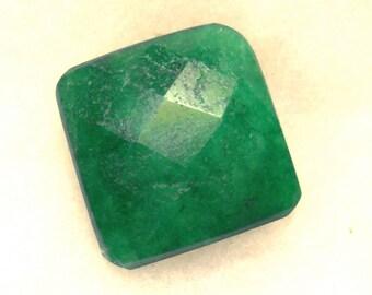 57 carat  .....  faceted emerald gemstone  ...  23 x 23 x 13 MM