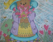 Rainbow Rabbit TM Panel Nanette Hilton for Fabri-Quilt