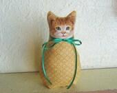 Cat, Kitten, Cloth Doll, Soft Sculpture