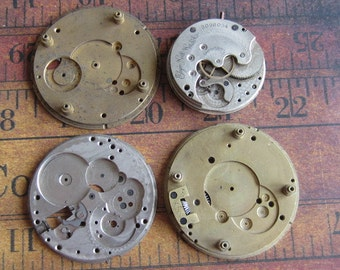 Vintage Antique Watch movements parts Steampunk - Scrapbooking j57