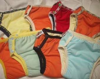 Set of 5 MamaBear Training Pants one size fits most - Waterproof All Solid Colors