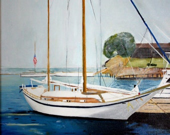At Rest     Bar Harbour Maine    11 x 14 Signed print.