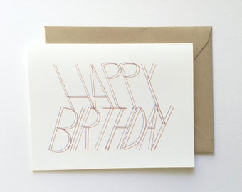 Happy Birthday - 3D Effect - Birthday Card