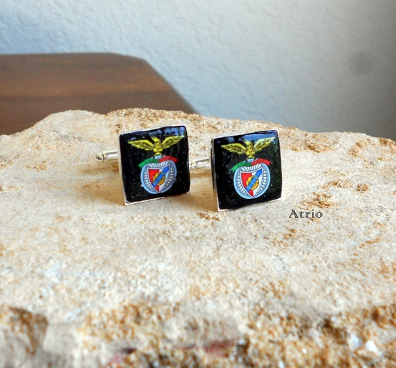 Portugal BENFICA CUFFLINKS Soccer Football Futebol - 17mm  Great Men's gift! Includes Gift Box