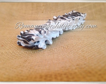 The Original Fully Reversible Bridal Garter..You Choose The Colors..shown in zebra/white