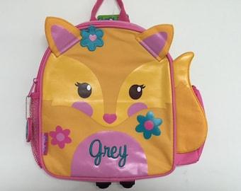 Personalized Stephen Joseph Mini Sidekicks Fox Backpack