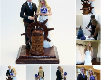 The Happy Couple and Kids and Pets and Whatever Else you Want Wedding Cake Topper