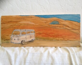 VW in the Wild - paintings on wood