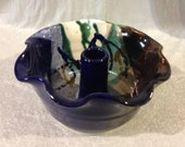 Abalone Colored Pottery Small Bundt Cake Baker