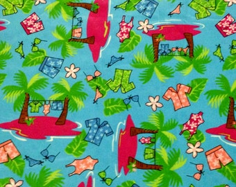 Deserted Island Polyester Fabric by the Yard
