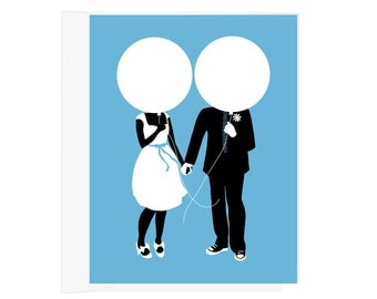 Balloons Heads - Blank Card - 1 pc
