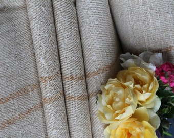 C 520 antique handloomed stairunner fabric rarest FADED CARAMELL 9.943 yards upholstery fabric