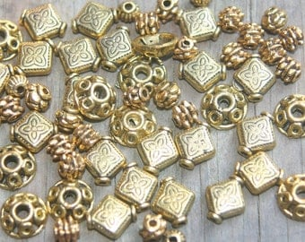 ON SALE Supplies Gold tone spacers various shapes