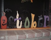 Whimsical October Halloween Letters