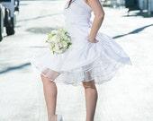 Rockabilly White Short Crinoline - White, Red, Orange, Pink, Blue, Purple, Yellow, Green, Black  ... VLV, Bridesmaids, Wedding Dress, Prom