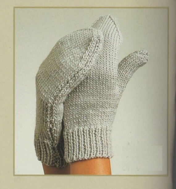 Knitting Pattern For Fingerless Gloves On Two Needles : PDF Knitting Pattern / Gloves, Fingerless Gloves and Mittens/ 3 in 1 pattern ...