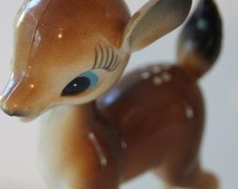 Adorable Vintage Doe | Bambi Deer  |  Kitsch Deer  | 50's Reindeer  | Kawaii Figurine