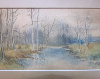 Artist Signed Fine Art Water Color Dated 1913