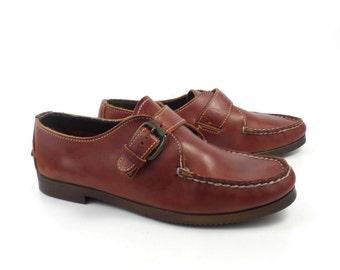 Dexter Oxford shoes Vintage 1980s Brown Leather Boat women's size 8 1/2