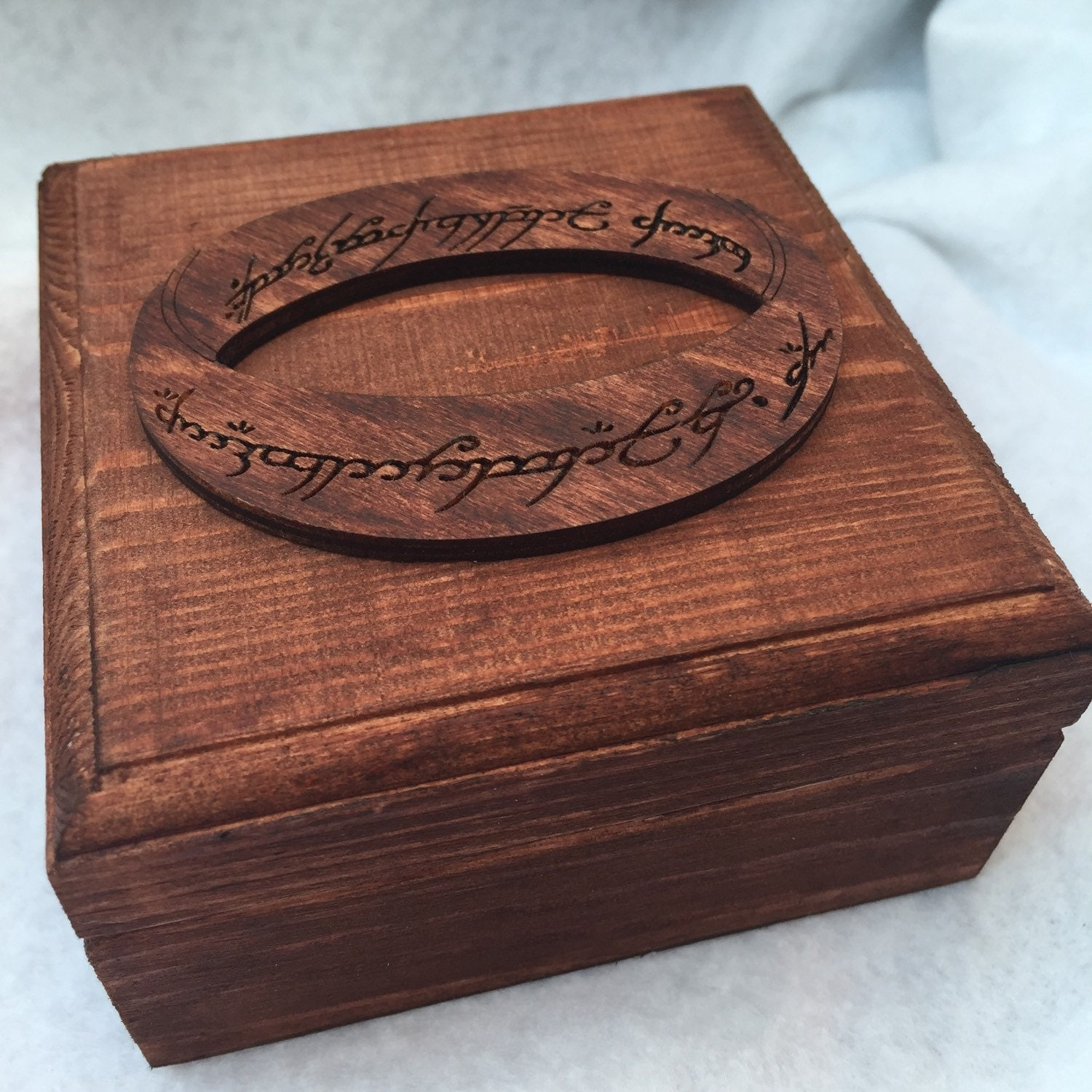 LOTR Lord Of The Rings One RIng Engagement Ring Box Wedding