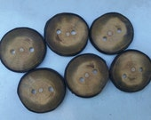 Natural Wood Buttons, Maple, 1 5/8 Inches, Set of 6