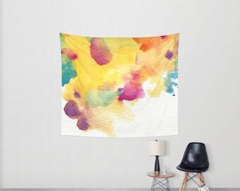 Watercolor splash -- Wall tapestry - original artwork by agnes villeda Agnes in Wonderland