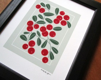 Lingonberry Art Print