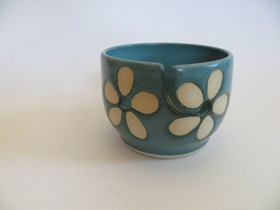 Ceramic Yarn Bowl, Knitting Bowl, Crochet Bowl,  Handmade Ceramic Pottery, In Stock, Yarn Bowl No. 5