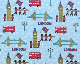 2630C -- London Bridge and Solider Fabric in Blue