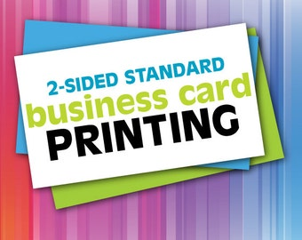 Custom 2 Sided Business Cards - Printing Only - FREE SHIPPING