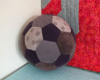 Fabric Soccer Ball- Purple Corduroy