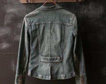 Vintage Bohemian Denim Jacket Calvin Kline for Women Size Small From Nowvintage on Etsy